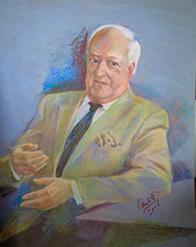 Г.Шишкин портрет Майкла Уинна-Паркера ( Президент Ассоциации самбо стран Британского Содружества